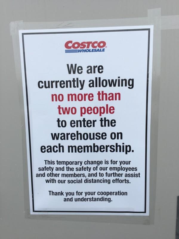 Costco Corona Virus Update