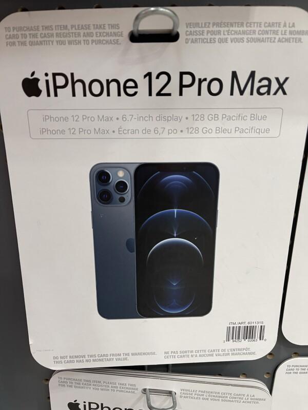 Costco Apple iPhone 12 Pro Max