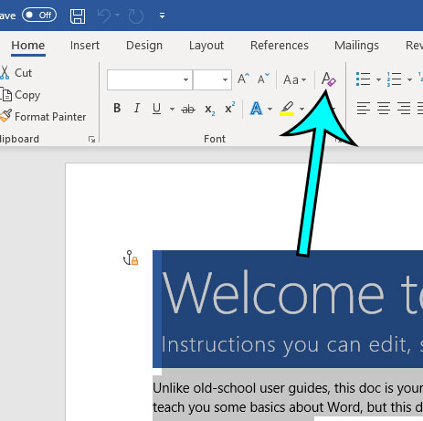 find out how to clear the formatting in microsoft word
