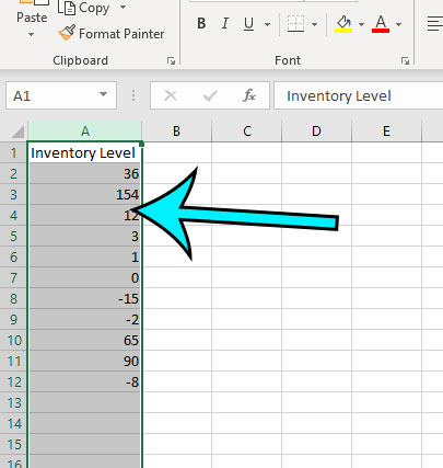 how to select the cells to format
