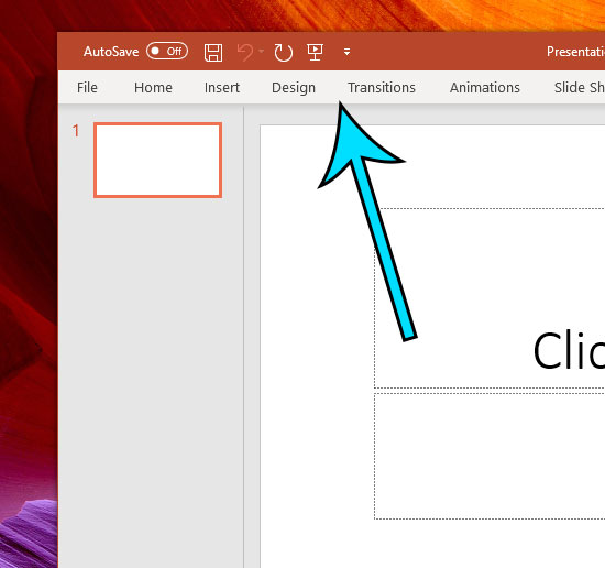 example of the collapsed ribbon in powerpoint
