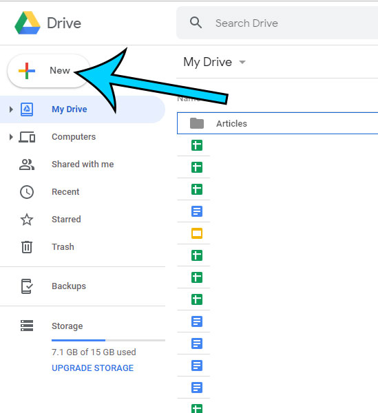 how to create new google docs file