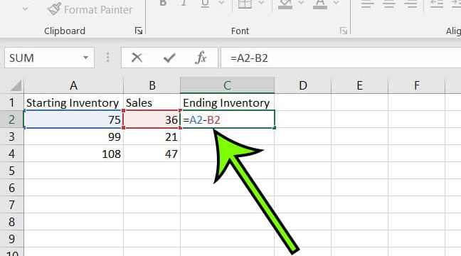 find difference in Excel for Office 365