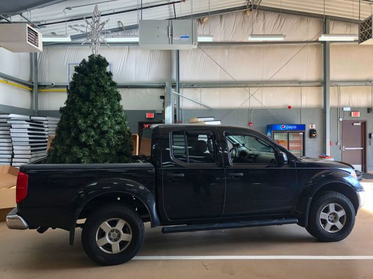 Mastic-Shirley Chamber Christmas tree transport