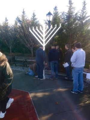 Mastic-Shirley Chamber menorah assembly