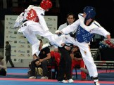 Final de la categoría masculinos A8 -58 Kg. entre el español Athami Jose Satana (derecha) y el iraní Mehdi Pour Rahnama.