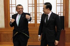 로보 온두라스 대통령의 태권도 실력