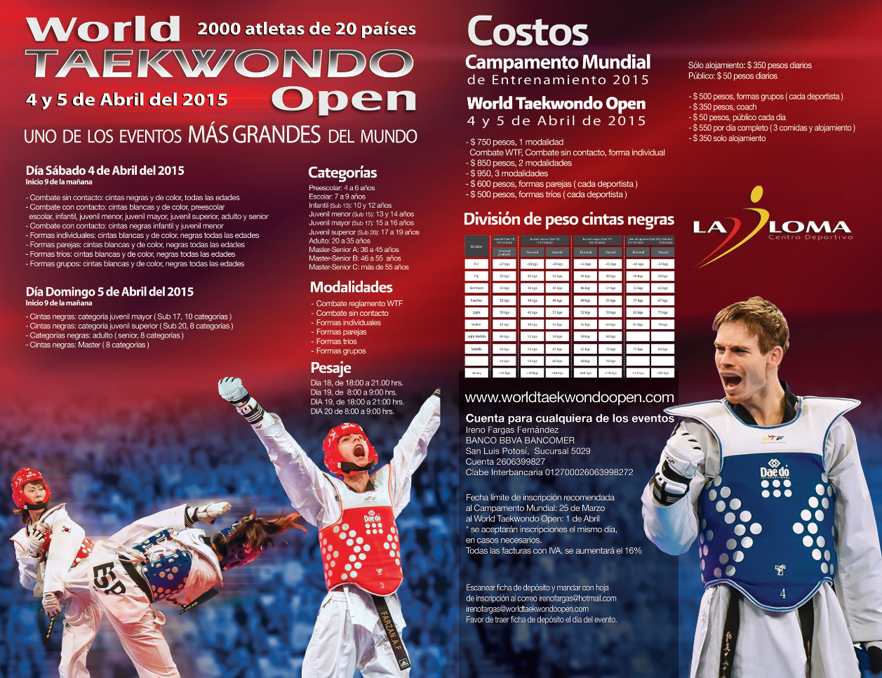 World Taekwondo Open 2015  INFO