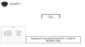 F CADETE NEGROS -41Kg