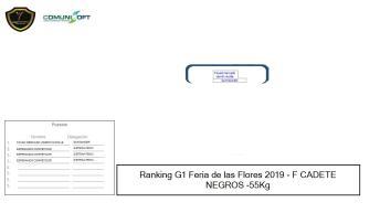 F CADETE NEGROS -55Kg