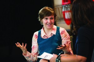 "Lena Dunham, author of ""Not My Kind of Girl,"" being interviews in 2012 at Fortune's Most Powerful Women Conference."