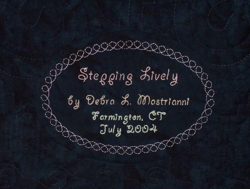 SteppingLively_label