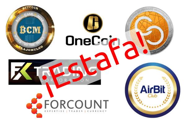 Fraude o Estafa con Criptomonedas (Airbit Club, Forcount, OneCoin, Dagcoin, DasCoin, entre otros)