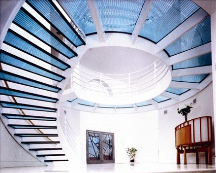 Glass Panel Staircase And Walkway From Circle Redmont