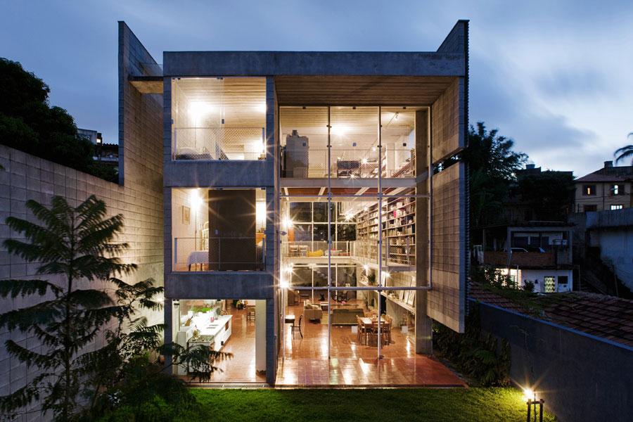 Modern Concrete House In Sao Paulo