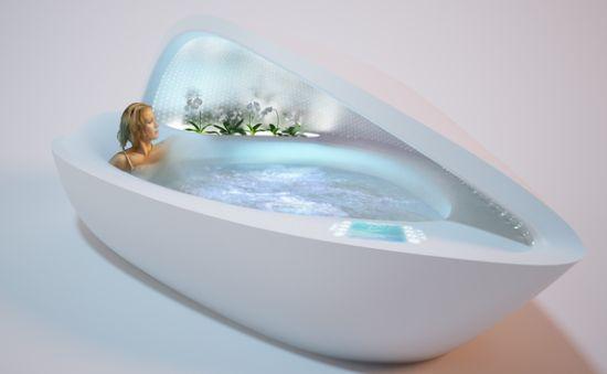 The Shell Bathtub Nestles Your Body DesignLibero