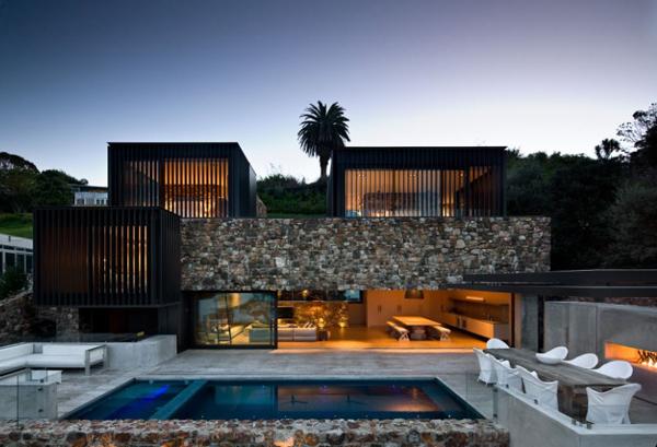 Waiheke Island Rock House by Andrew Patterson Architects