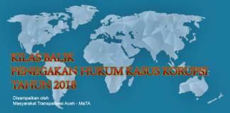 Monitoring Kasus Indikasi Korupsi di Aceh Tahun 2018
