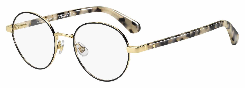 Round metal Kate Spade prescription eyeglasses