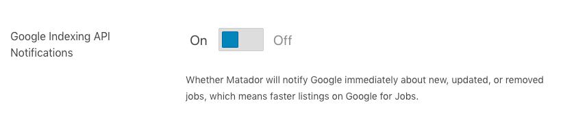 Setting Up Google Indexing - Matador Jobs