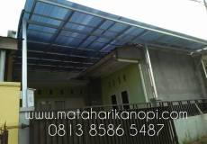 kanopi baja ringan atap polycarbonate matahari kanopi