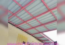 hasil pemasangan kanopi baja ringan atap alderos di perumahan pelangi residence, rawageni, citayem, depok