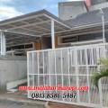 Hasil Pemasangan Kanopi Baja Ringan Murah Atap Alderon RS di Taman Melati Indah Premier, Pengasinan, Sawangan, Depok