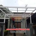 Hasil Pemasangan Kanopi Baja Ringan Murah Atap Alderon di Komplek Limus Pratama, Blok E3 No.1, Cileungsi, Bogor