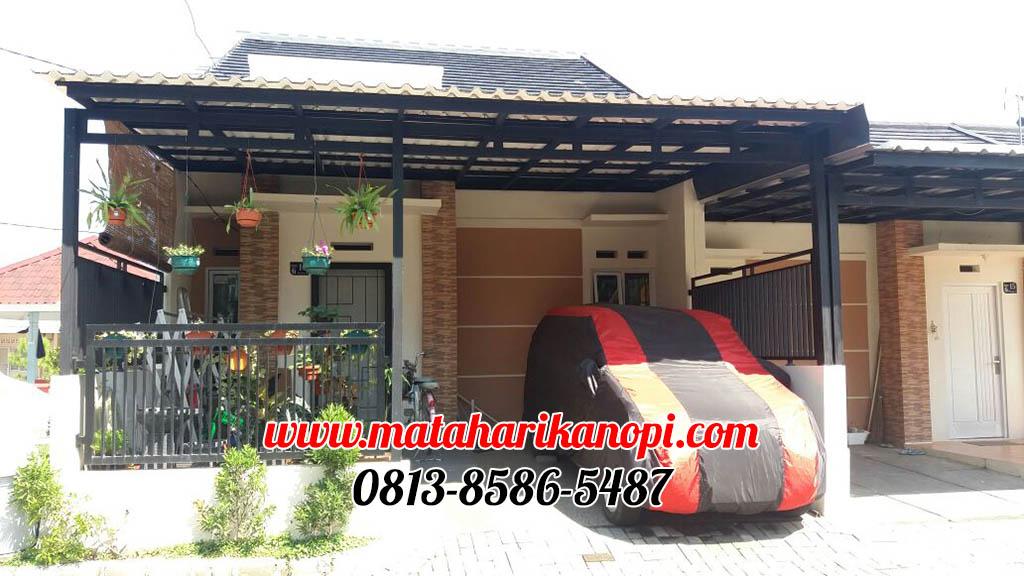 kanopi-baja-ringan-atap-alderon-di-Ciomas-River-View-Bogor1-ok Hasil Pemasangan Kanopi Baja Ringan Atap Alderon di Ciomas River View, Bogor
