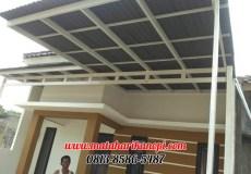 Hasil Pemasangan Kanopi Baja Ringan Atap Go Green Abu-abu Elegan di Green Village Residence, Kalimulya, Cilodong, Depok