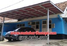 Hasil Pemasangan Kanopi Baja Ringan Atap Go Green Merah Type Ekonomis di Komplek TNI AU Dwikora, Cilangkap, Tapos, Depok