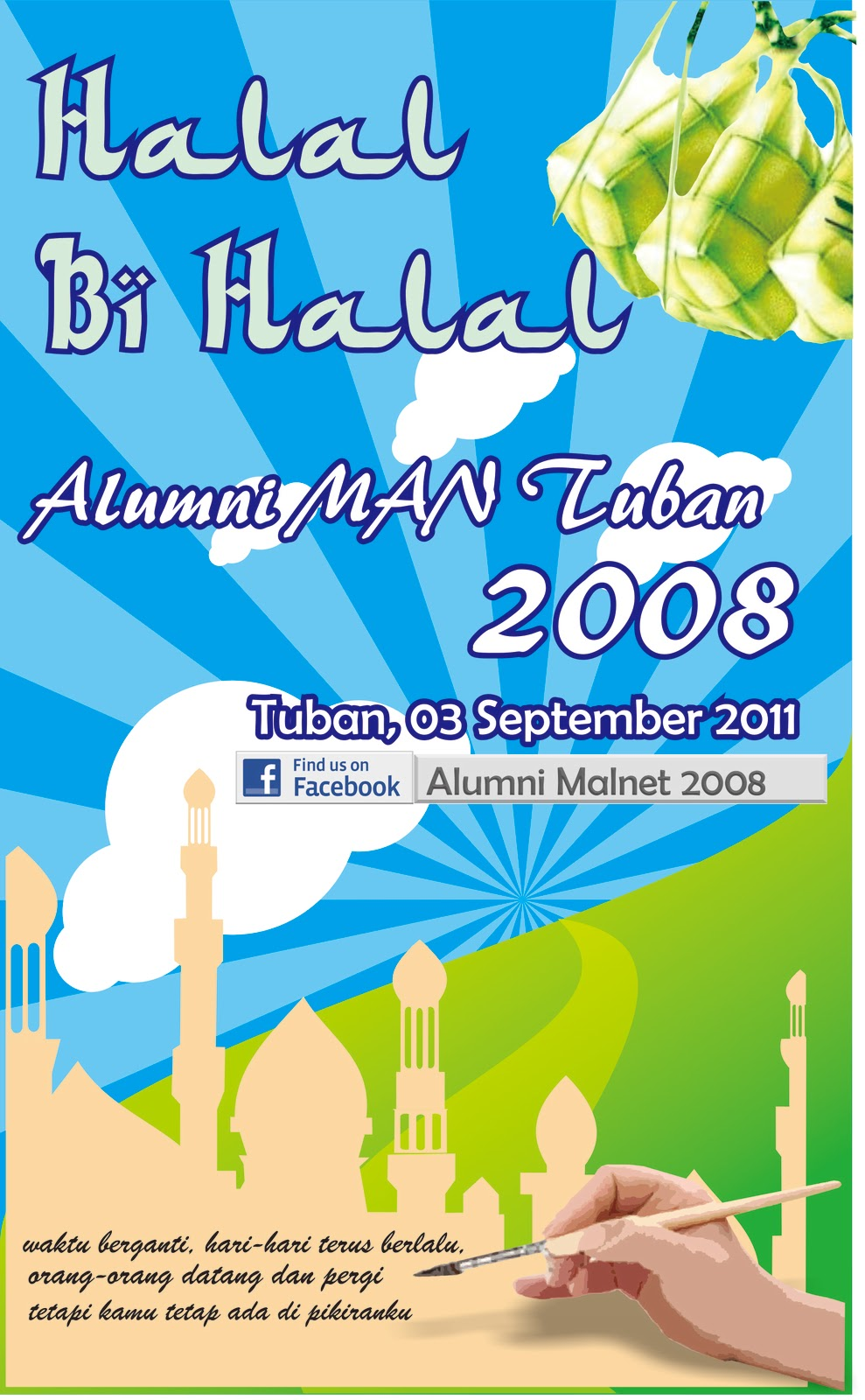 Desain Stiker Halal Bihalal Matakarna
