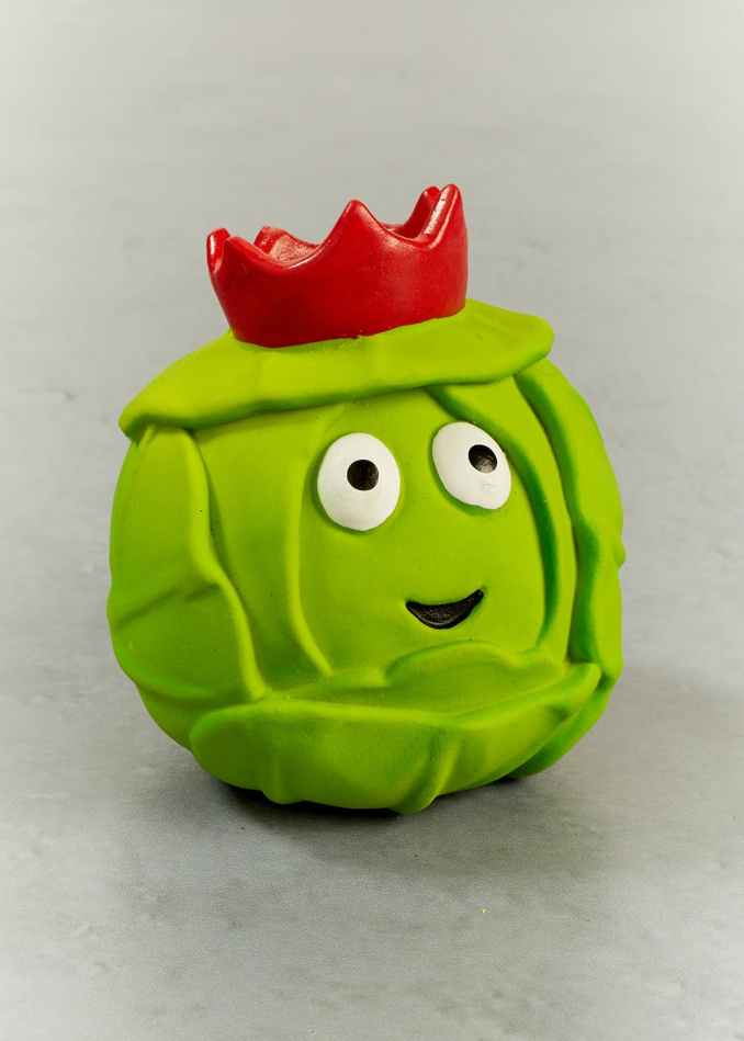 Brussels Sprout Ball Christmas Dog Toy (8cm x 8cm) – Green