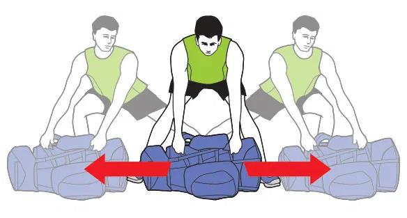 Przenoszenie plecaka - Brzuszki