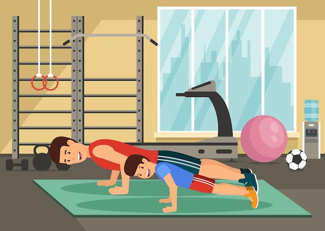 Ćwiczenia w domu dla dzieci