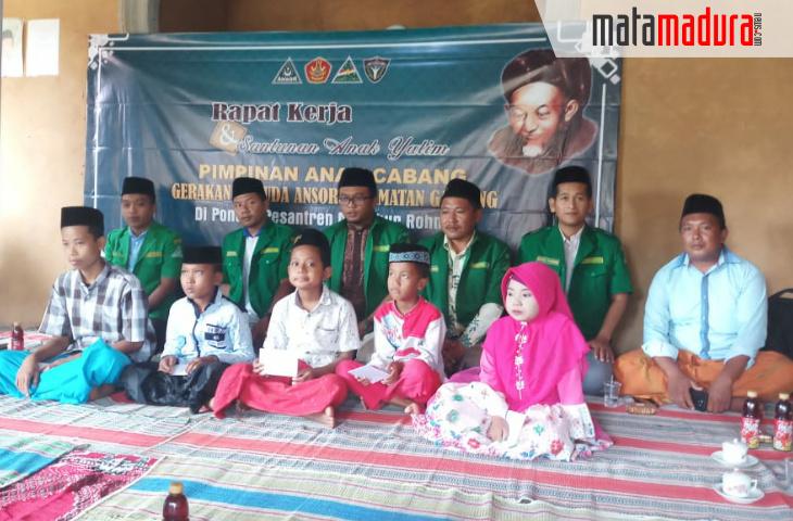 PAC GP Ansor Ganding Gelar Raker Sambil Santuni Anak Yatim