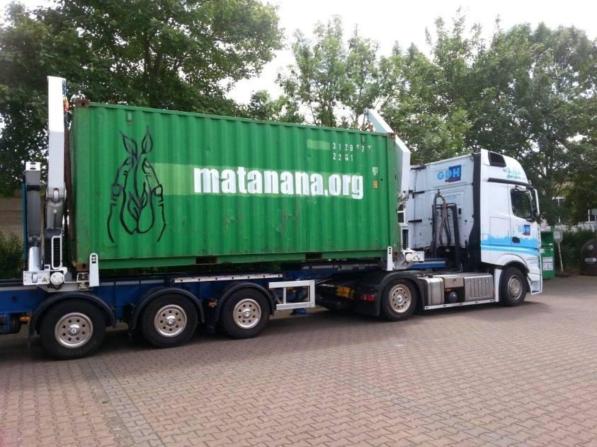 Container wird auf die Reise geschickt
