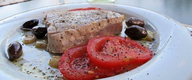 Villaks og tunfisk