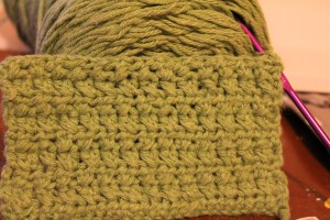 crossed half double crochet
