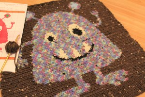 monster baby blanket