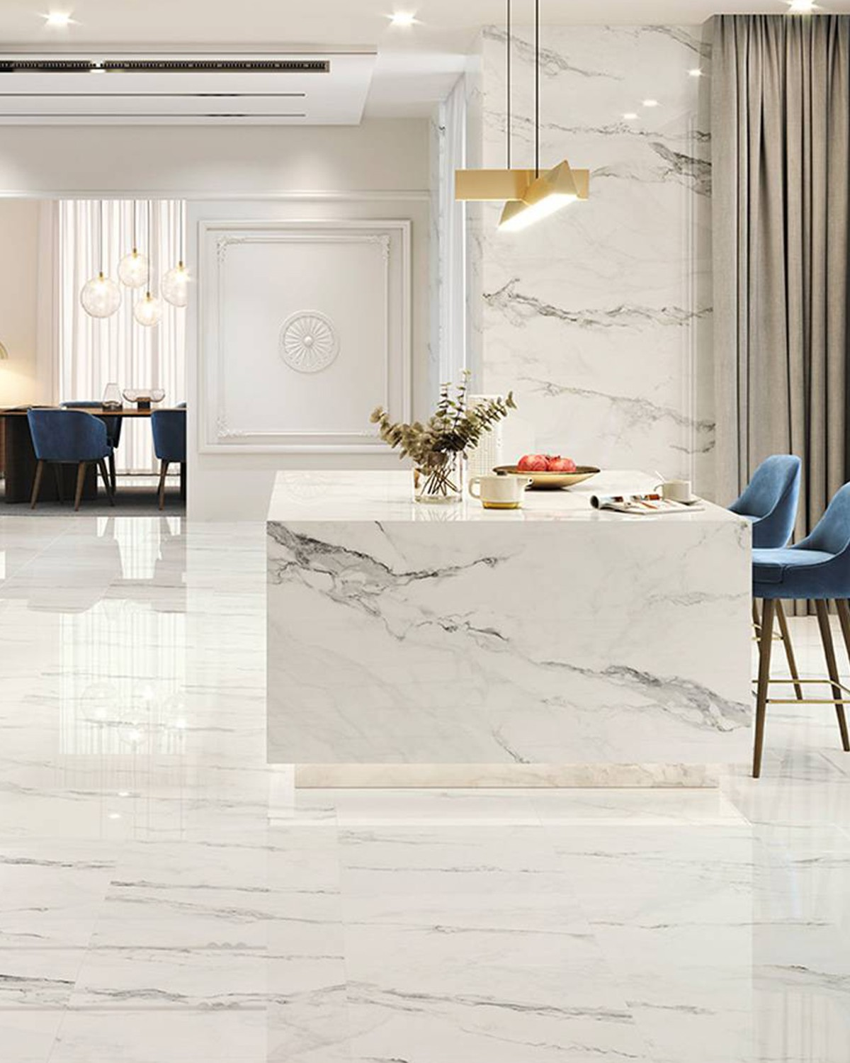 insignia colorker marble look porcelain