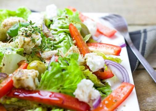 salade verte - une journée dans mon assiette