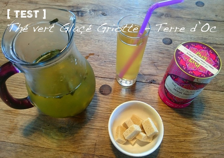 Thé vert glacé Cerise Griotte - Terre d'Oc