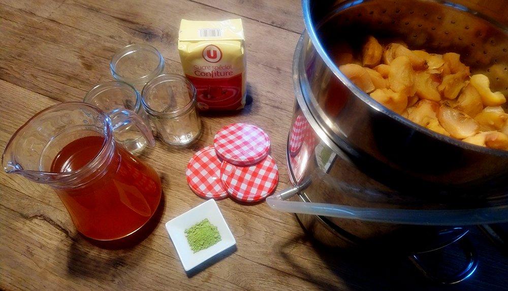 Gelée de pommes au Matcha