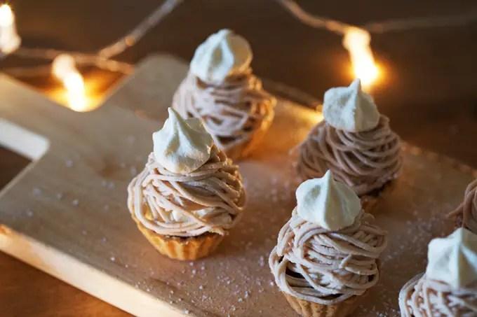 Japanese Mont blanc chestnut cream cake recipe