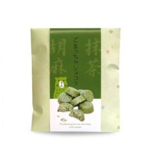 Chocolat matcha, riz soufflé, graines de sésame – 100g (Japon)