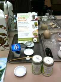 Gotcha matcha and accessories all prepped in the green room.