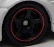 5 Spoke - Black-Red