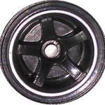 5 Spoke - Black-Chrome
