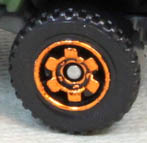 6 Spoke Ringed Gear - Orange